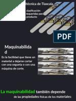 2.- Maquinabilidad