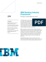 IBM Banking Industry Framework flyer