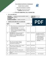 PLANIFICACIÓN SEMESTRAL FÍSICA IB -2018-19
