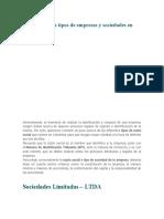 Cuáles son los tipos de empresas y sociedades en Colombia