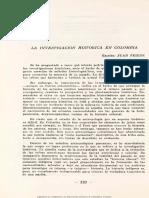 Friede Juan La investigación histórica en Colombia 1964