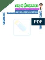 Ejercicios de Elementos Geométricos Para Cuarto de Secundaria