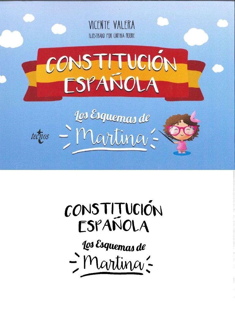 Vicente Valera Constitucion Espaola Los Esquemas De Martina 292 Pagpdf Compress