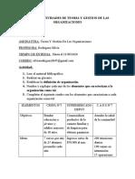 ACTIVIDAD N°1 DE TEORIA Y GESTION DE LAS ORGANIZACIONES