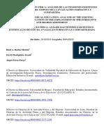 EVALUAR EN EDUCACIÓN FÍSICA - análisis de la tensiones existentes y justificación del empleo de la evaluación formativa y compartida (2020) Articulo Cientifico