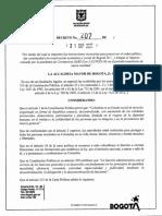 Decreto 207 de 2020 -Bogotá