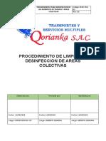 PROCEDIMIENTO DE LIMPIEZA Y DESINFECCION DE AREAS COLECTIVAS