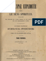 Em Swedenborg L'APOCALYPSE EXPLIQUEE Tome Premier Chapitres I IV Numeros 1 295 LeBoysDesGuays 1855
