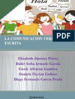 LA COMUNICACIÓN VERBAL ESCRITA