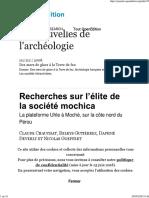 CHAUCHAT et al. - Recherches sur l'élite de la société mochica. La plateforme Uhle à Moché, sur la côte nord du Pérou - 2008