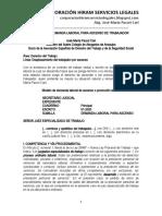 Modelo Demanda Laboral Para Ascenso de Trabajador - Autor José María Pacori Cari