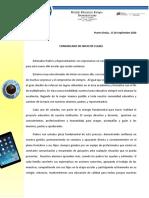 COMUNICADO DE INICIO DE CLASES