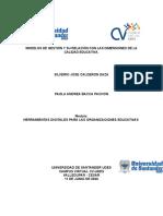 Trabajo Modelos de Gestión y Su Relación Con Las Dimensiones de La Calidad Educativa