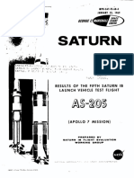 Results of the Fifth Saturn IB Launch Vehicle Test Flight AS-205 Apollo 7 Mission