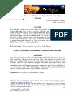 POlíticas publicas e agendas governamentais