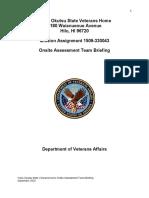 VA Report on Yukio Okutsu Veteran's Home