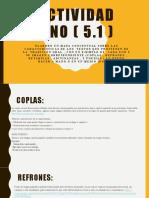 ACTIVIDAD UNO ( 5.1  - Lengua Castellana