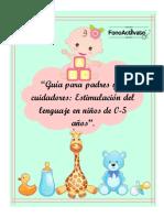 Guía de estimulación lenguaje infantil