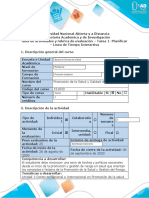 Guía de actividades y rúbrica de evaluación - Tarea 1 - Planificar