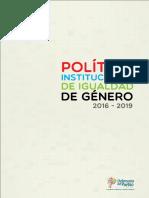 Política institucional de igualdad de género