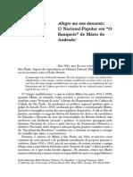 11. O nacional popular em Mário de Andrade