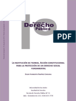 A- La restitución de tierras. Acción constitucional.pdf