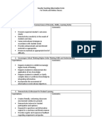 Faculty Teaching Observation Form