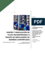 Diseño y simulación de flujo incompresible a través de impulsores de bombas centrífugas