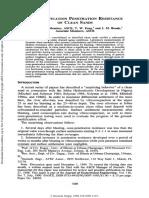 Mesri, G., Feng, T. W., & Benak, J. M. (1990). Postdensification Penetration Resistance of Clean Sands.