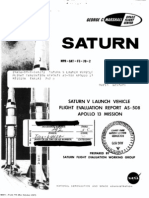 Saturn V Launch Vehicle Flight Evaluation Report - AS-508 Apollo 13 Mission