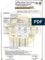 weigh balance calibration certificate