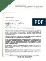ELECCIÓN DE MIEMBRO DE LA JUNTA RECTORA DE LA CDCOOP