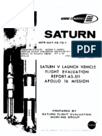 Saturn V Launch Vehicle Flight Evaluation Report - AS-511 Apollo 16 Mission