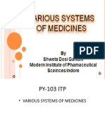 Chap 1 Various systems of medicines