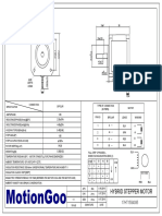 Motiongoo Stepper Motor Drawing-17HT15S4150C1