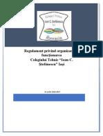 Regulament Organizare Si Functionare Colegiul Ioan C Stefanescu