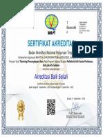 Sertifikat Akreditasi Prodi TPI 2020_2025