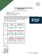 Organización Extraescolares 20.21