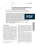 Electrical conductivity measurements of nanofluids