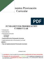 Fundamentos Priorización Curricular