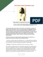 ORIENTACIONES DE APOYO PARA CUANDO TRASCIENDE EL ALMA-