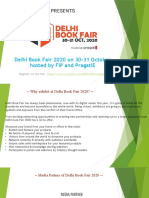 Delhi Book Fair 2020 on 30-31 October Hosted by FIP and PragatiE