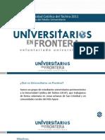 Universitarios en Frontera