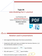 4. Data Modeling Part 3 - practical