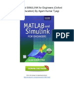 [U221.Book] Free PDF MATLAB and SIMULINK for Engineers (Oxford Higher Education) By Agam Kumar Tyagi.pdf