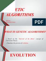 Genetic Algorithms ppt