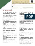 PRACTICA MENSUAL DE LENGUAJE 3RO