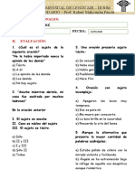 PRACTICA MENSUAL DE LENGUAJE 4TO