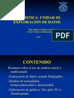 EXPLORACIÓN DE DATOS Y ANÁLISIS EN PAQUETES ESTADISTICOS