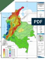 Escorrentía Anual de Colombia. Escenario Año Seco. Año 2010